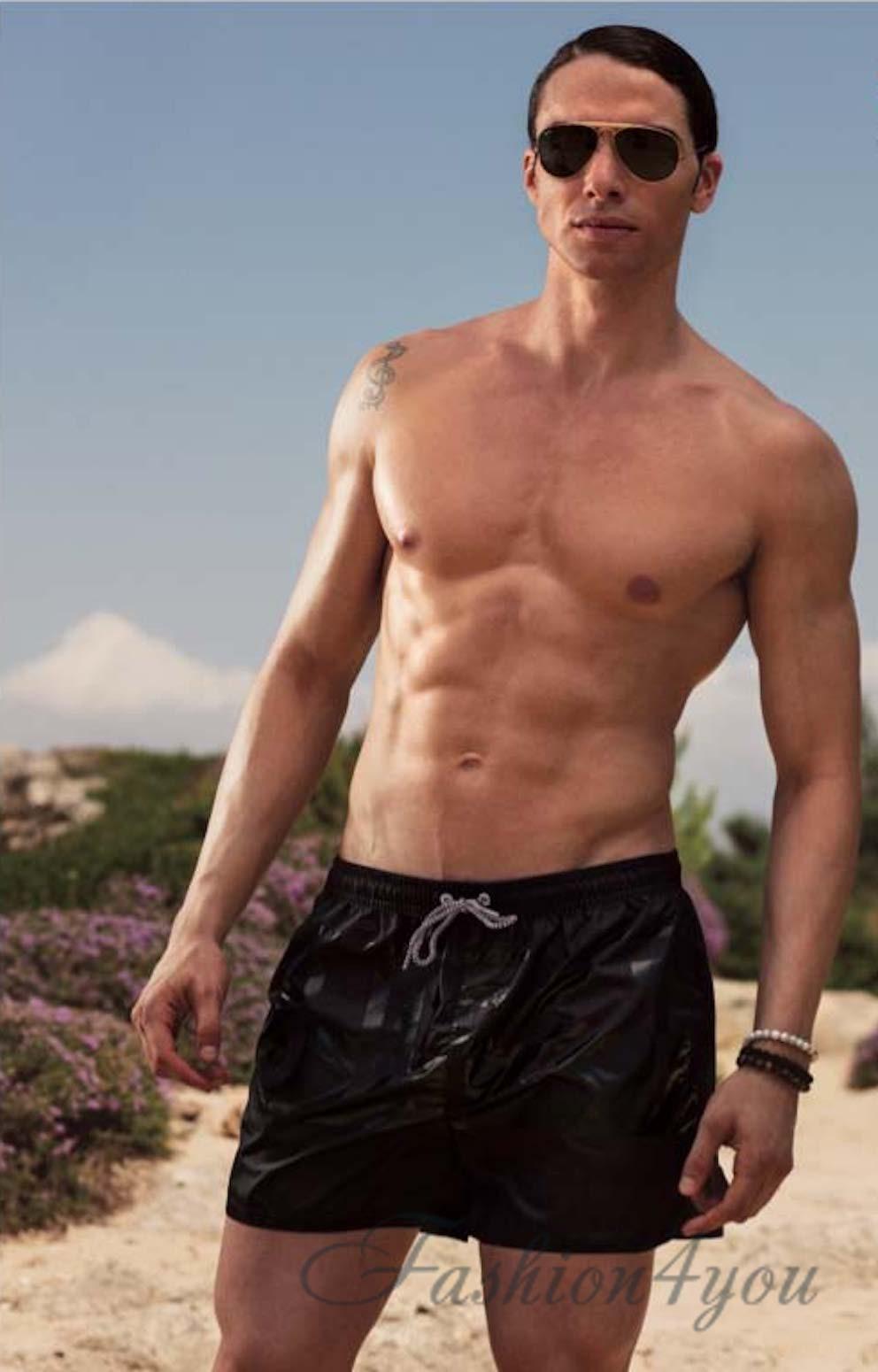 Черные пляжные шорты мужские Sweet Years 4350 N - фото №1 8fb39c5f4394a
