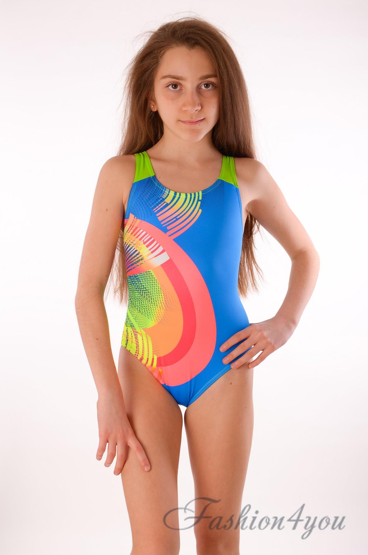 4a8734e1070cc Спортивный детский купальник для плавания в бассейне Keyzi Rainbow